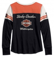 Harley-Davidson® Women's Classics Colorblocked Long Sleeve Henley